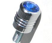Harley Custom Seat Bolt - Swarovski Crystal Blue