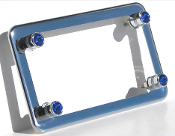 Chrome Motorcycle Frame & Swarovski Crystal Bolts - Blue