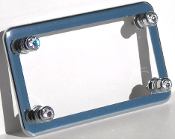 Chrome Motorcycle Frame & Swarovski Crystal Bolts - Clear