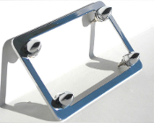Chrome Motorcycle License Frame w/ Chrome Short Spike Bolts