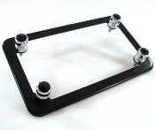 Flat Black Motorcycle Frame & Swarovski Crystal Bolts - Black