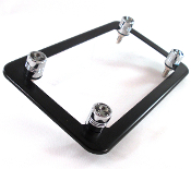 Flat Black Motorcycle Frame & Swarovski Crystal Bolts - Smoked