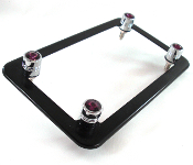 Flat Black Motorcycle Frame & Swarovski Crystal Bolts - Purple