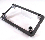 Black Chrome Motorcycle Frame & Swarovski Crystal Bolts - Black