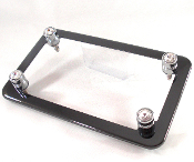 Black Chrome Motorcycle Frame & Swarovski Crystal Bolts - Clear