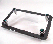 Black Chrome Motorcycle Frame & Swarovski Crystal Bolts - Green