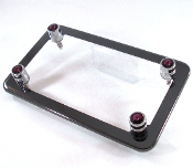 Black Chrome Motorcycle Frame & Swarovski Crystal Bolts - Purple