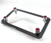 Black Chrome Motorcycle Frame & Swarovski Crystal Bolts - Red