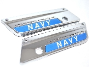 93-13 Saddlebag Latch Reflector Decals - US Navy Blue