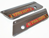 93-13 Saddlebag Latch Reflector Decals - FD Red w/ Real Flame
