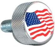 Harley Twin Cam Air Cleaner Bolt - Chrome Billet Flag American