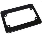Motorcycle License Plate Frame - Phat - Flat Black