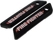14-Up Saddlebag Latch Reflector Decals - Red Line - Firefighter