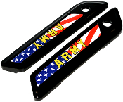 14-Up Saddlebag Latch Reflector Decals - US Army - USA Flag