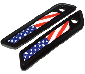 14-Up Saddlebag Latch Reflector Decals - US American Flag