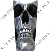 89-07 Road & Electra Glide Dash Insert Decal - Chrome Skull