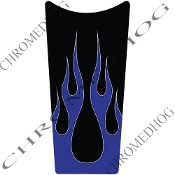 89-07 Road & Electra Glide Dash Insert Decal - Flame 2 Blue Up
