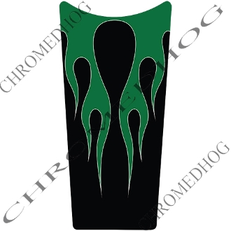 89-07 Road & Electra Glide Dash Insert Decal - Flame 2 Green