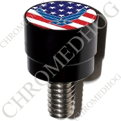 Harley Custom Seat Bolt - S SM Black Billet USAF - US Flag