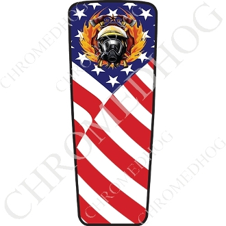 08-15 Ultra & Electra Glide Dash Insert - Fire Fighter - US Flag