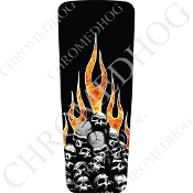 08-15 Ultra & Electra Glide Dash Insert - Skull on Real Flame