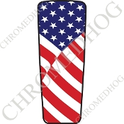 08-15 Ultra & Electra Glide Dash Insert - Flag - USA
