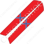 14-Up Saddlebag Latch Reflector Covers - Flag - Rebel 1