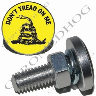 sm silver billet license plate bolts dont tread - Don T Tread On Me License Plate Frame