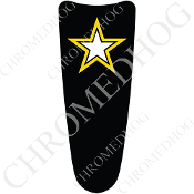 03-07 Ultra Classic CB Dash Insert Decal - Army Star Black