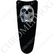 03-07 Ultra Classic CB Dash Insert Decal - Chrome Skull - Black