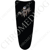 03-07 Ultra Classic CB Dash Insert Decal - Skeleton - Black