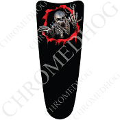 03-07 Ultra Classic CB Dash Insert Decal - Skeleton - Red