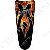 03-07 Ultra Classic CB Dash Insert Decal - Skeleton Flame - Real