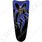03-07 Ultra Classic CB Dash Insert Decal - Skeleton Flame - Blue