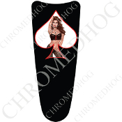 03-07 Ultra Classic CB Dash Insert Decal - Pin Up Spade - LaceWB