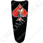 03-07 Ultra Classic CB Dash Insert Decal - Pin Up Spade - SCLRB