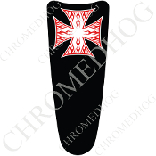 03-07 Ultra Classic CB Dash Insert Decal - Iron Cross - RFWB