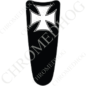 03-07 Ultra Classic CB Dash Insert Decal - Iron Cross - WB