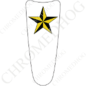 03-07 Ultra Classic CB Dash Insert Decal - Star - Yellow/ White