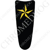 03-07 Ultra Classic CB Dash Insert Decal - Star - Yellow/ Black