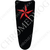 03-07 Ultra Classic CB Dash Insert Decal - Star - Red/ Black