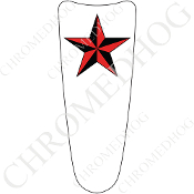 03-07 Ultra Classic CB Dash Insert Decal - Star - Red/ White