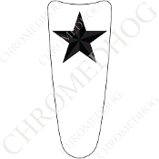03-07 Ultra Classic CB Dash Insert Decal - Star - Gray/ White