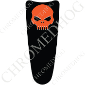 03-07 Ultra Classic CB Dash Insert Decal - Evil Skull - Orange/B