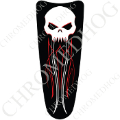 03-07 Ultra Classic CB Dash Insert Decal - Evil Skull PS - W/WRB