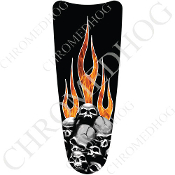 03-07 Ultra Classic CB Dash Insert Decal - Skull on Real Flame