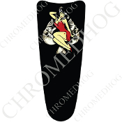 03-07 Ultra Classic CB Dash Insert Decal - Pin Up - Skull Spade