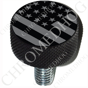 Harley Custom Seat Bolt - L KN Black Billet - Flag - Ghost USA