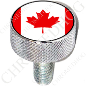 Harley Custom Seat Bolt - L KN Chrome Billet - Flag - Canada