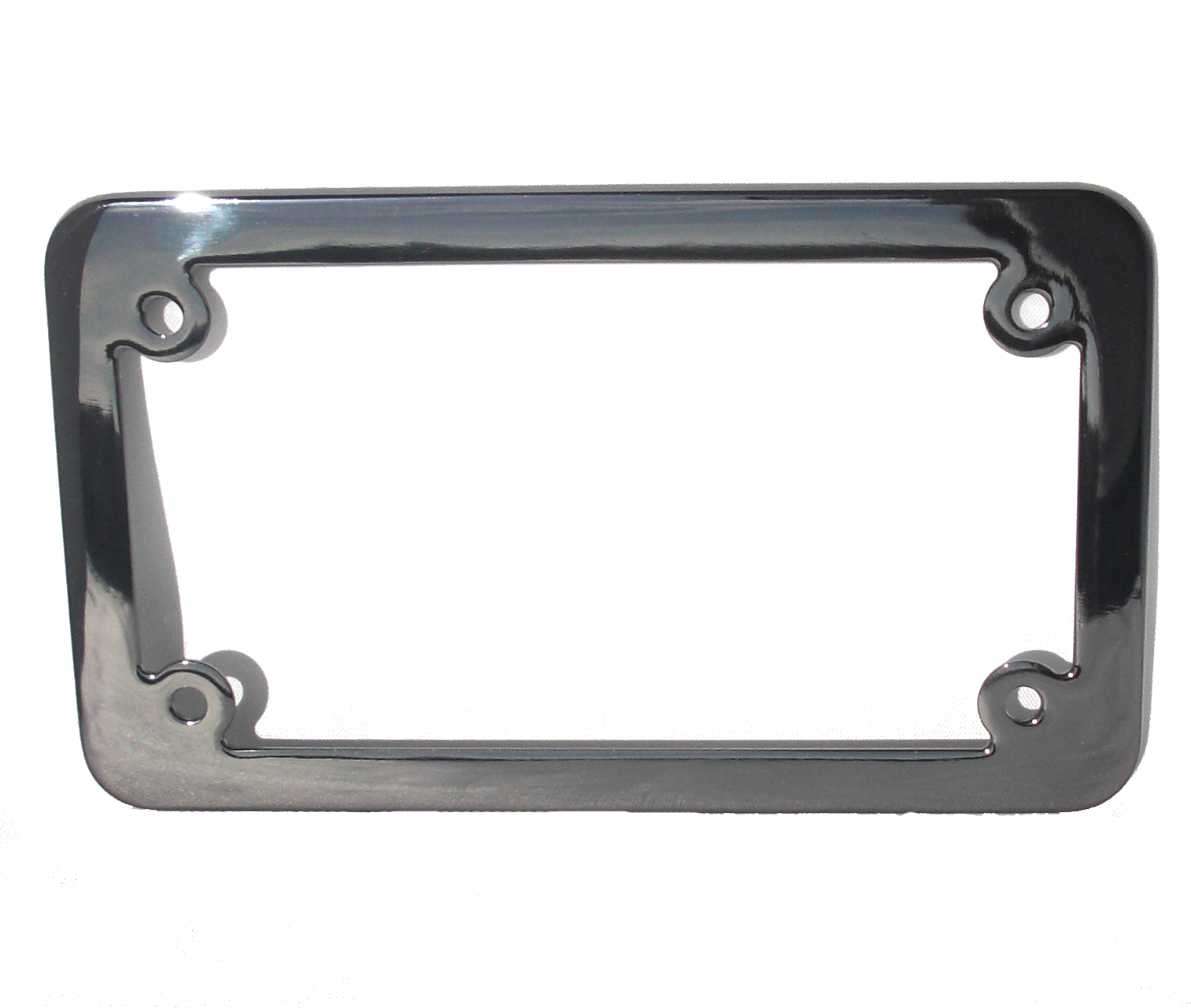 motorcycle license plate frame black chrome